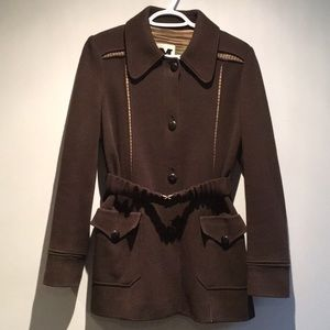 Missoni Brown Belted Coat Size 8
